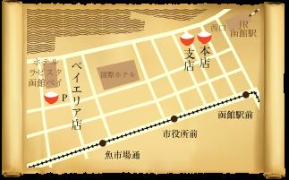 きくよ食堂の地図